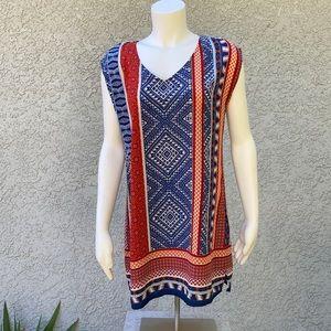 BeBop Vintage Tunic Blouse Shirt or Mini Dress